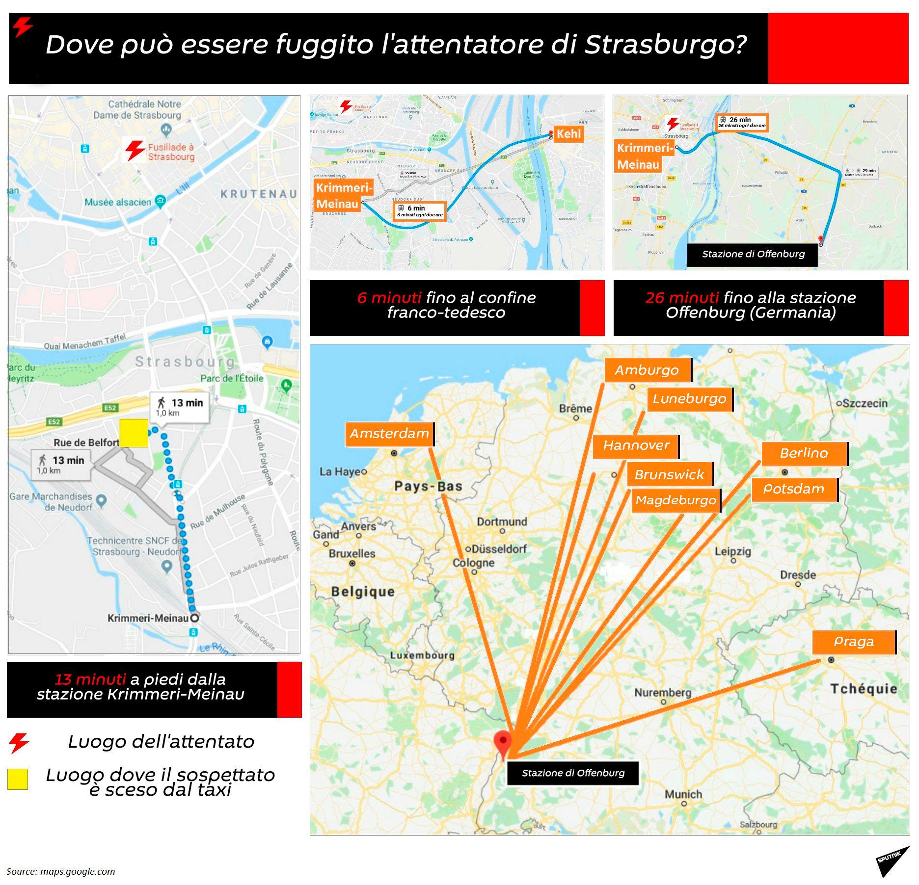 Dove può essere fuggito l'attentatore di Strasburgo? - Sputnik Italia