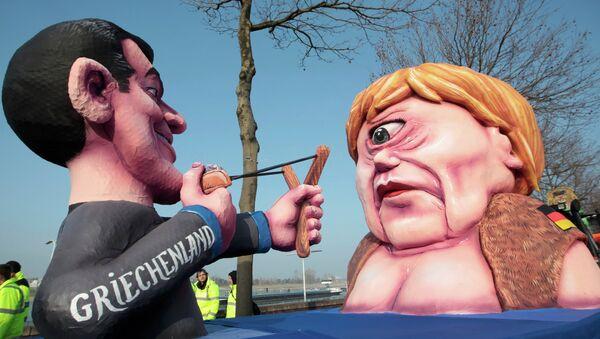 La figura di Angela Merkel che rappresenta la Grecia. Carnevale di Duesseldorf. 16 febbraio 2015 - Sputnik Italia