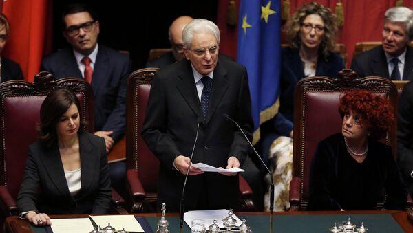 Presidente italiano eletto Sergio Mattarella, il 3 febbraio - Sputnik Italia