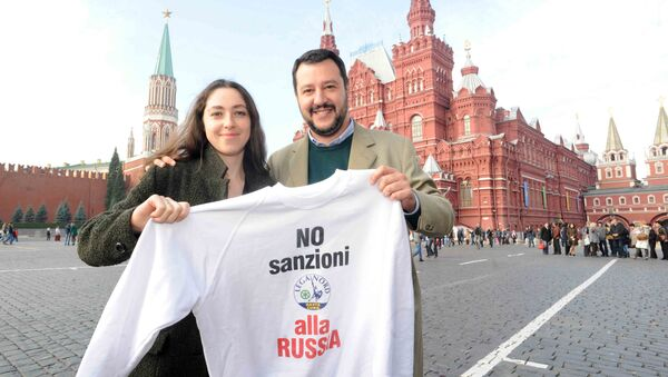 Matteo Salvini in Piazza Rossa, ottobre 2014 - Sputnik Italia