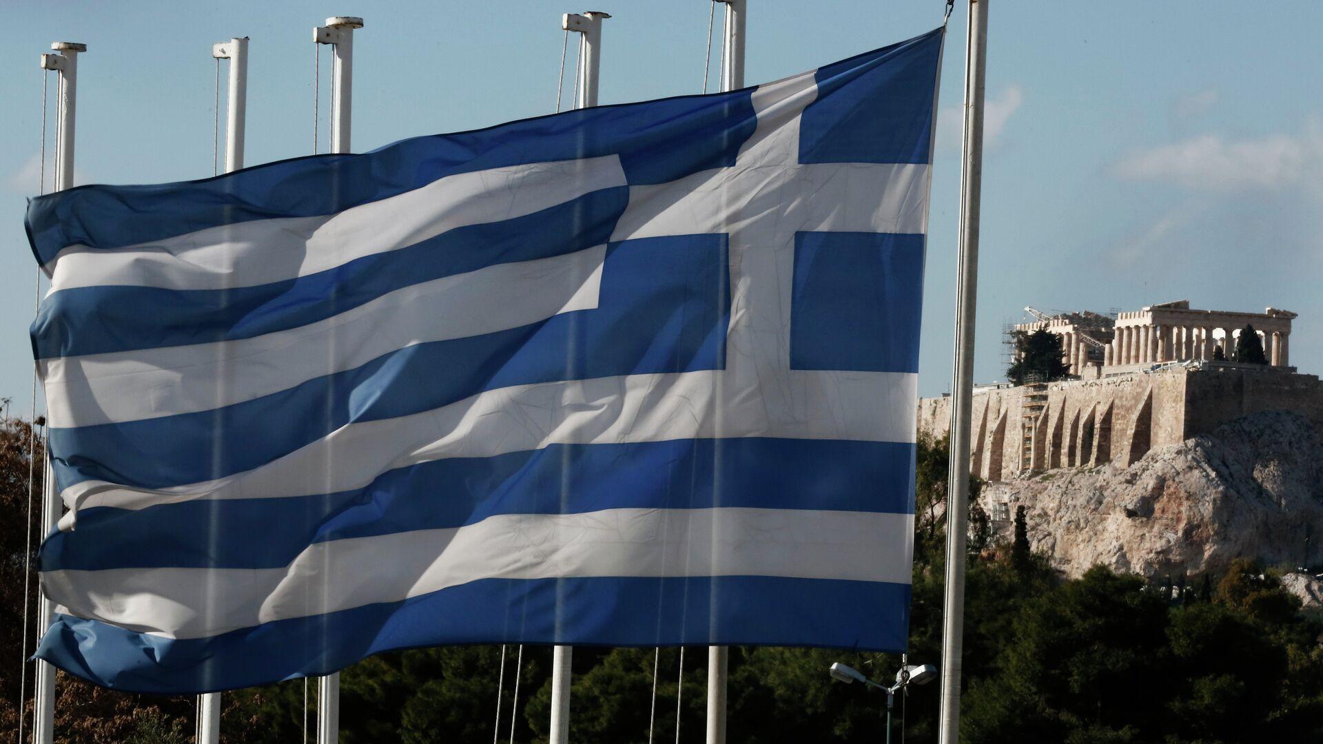 Bandiera della Grecia e Partenone - Sputnik Italia, 1920, 17.06.2021