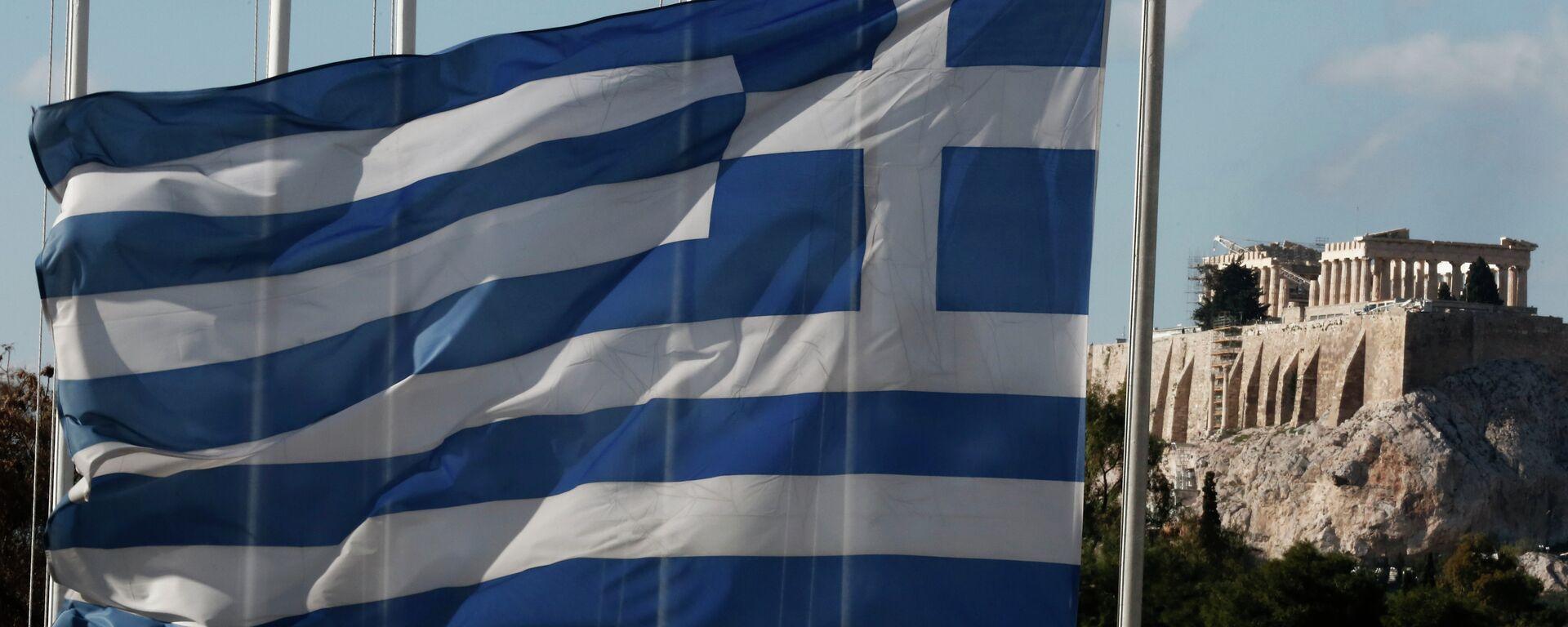 Bandiera della Grecia e Partenone - Sputnik Italia, 1920, 19.04.2021