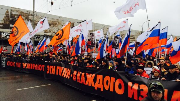 Manifestazione in memoria di Boris Nemtsov a Mosca - Sputnik Italia