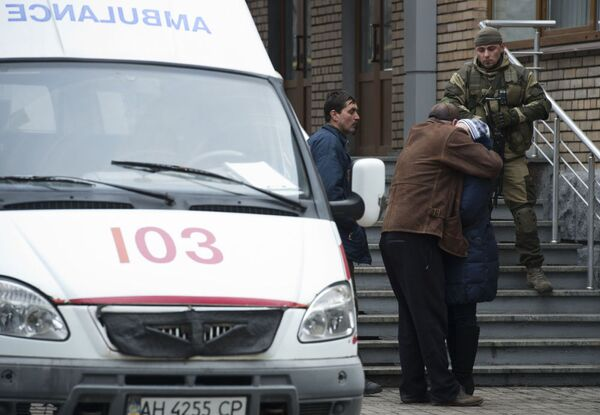 Parenti delle vittime alla miniera Zasyadko - Sputnik Italia
