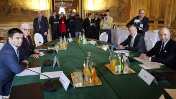 I ministri degli Esteri dei Quattro di Normandia a Parigi - Sputnik Italia