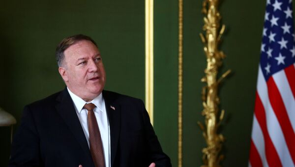 U.S. Secretary of State Mike Pompeo speaks during a meeting with British Foreign Secretary Dominic Raab (not pictured), at Lancaster House in London, Britain July 21, 2020.  - Sputnik Italia