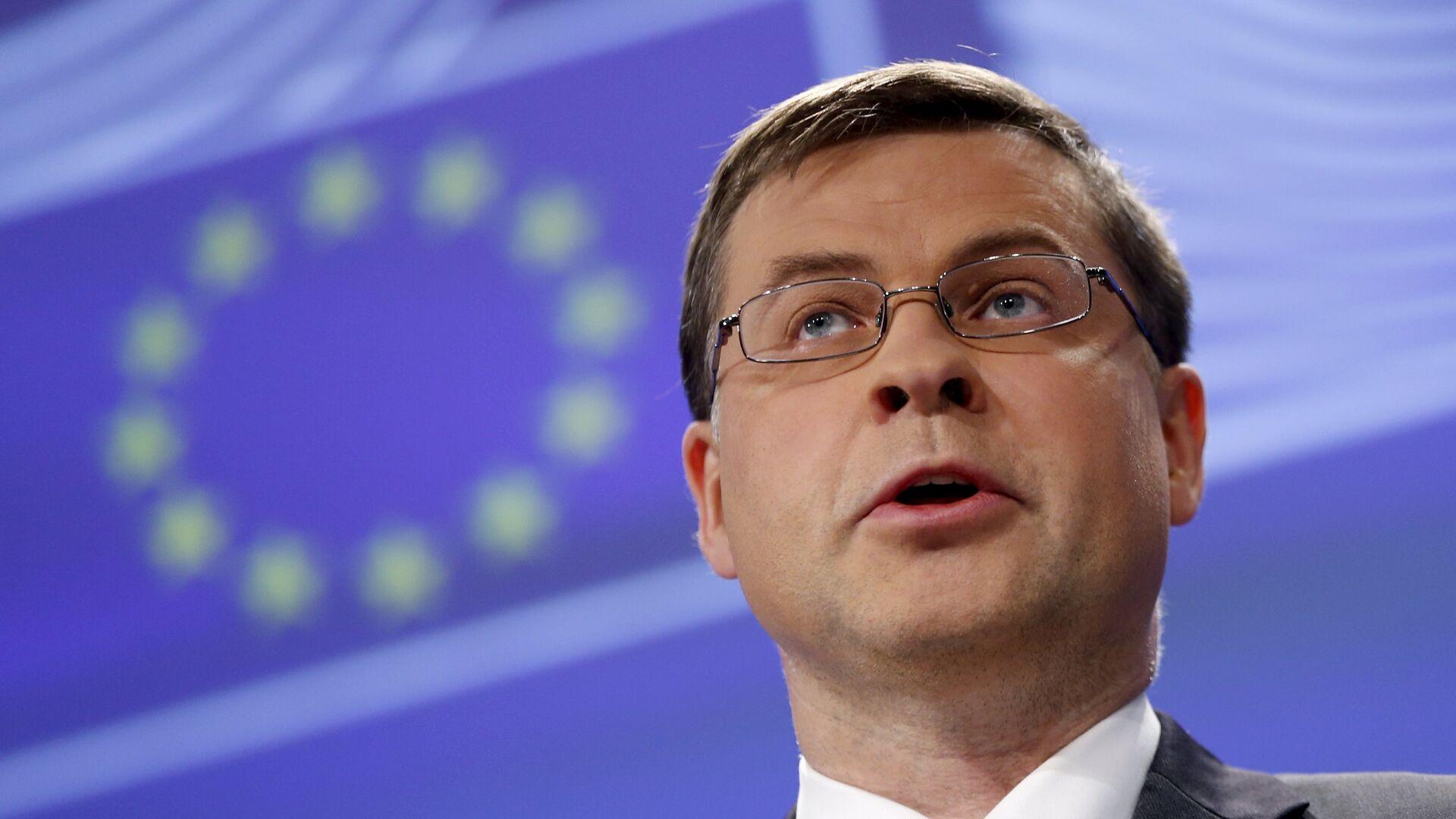 Il vice presidente della Commissione Europea Valdis Dombrovskis - Sputnik Italia, 1920, 22.05.2021