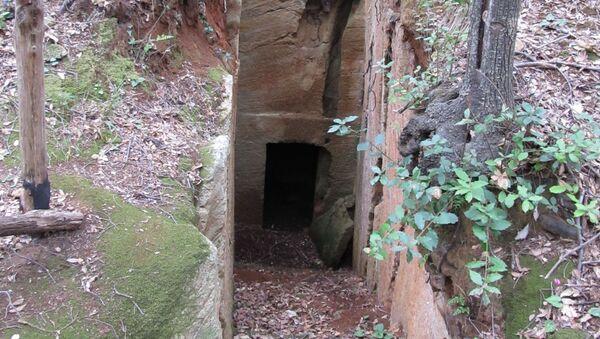 Tomba estrusca a camera scavata nel tufo situata nella Necropoli delle Grotte nel Parco Archeologico di Baratti e Populonia - Sputnik Italia