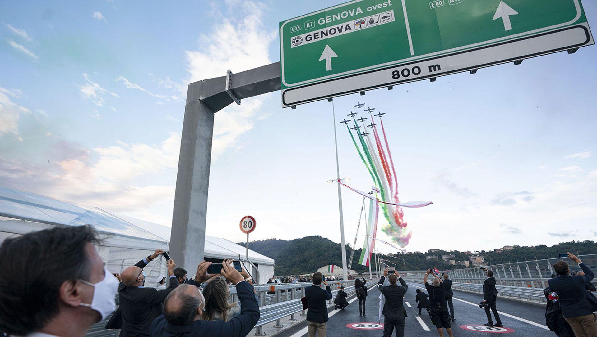 L'inaugurazione del nuovo ponte di Genova - Sputnik Italia, 1920, 18.02.2021