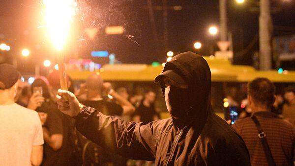 I partecipanti alle proteste a Minsk. - Sputnik Italia