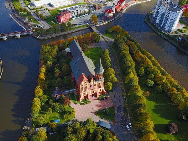 La città russa di Kaliningrad vista dall'alto. - Sputnik Italia