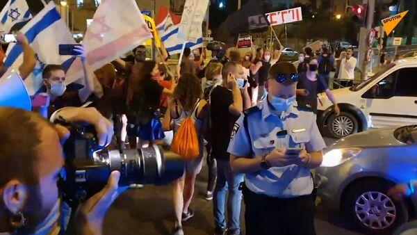 Israele, protesta violenta contro Benjamin Netanyahu - Sputnik Italia