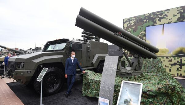 Противотанковый ракетный комплекс Гермес на выставке форума Армия-2020 - Sputnik Italia