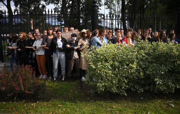 La protesta degli studenti di diverse università bielorusse - Sputnik Italia