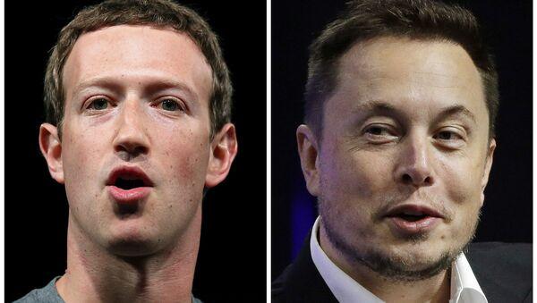 Mark Zuckerberg (a sinistra) ed Elon Musk (a destra) - Sputnik Italia