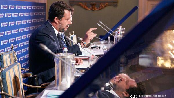 Matteo Salvini al forum The European House - Ambrosetti a Cernobbio - Sputnik Italia