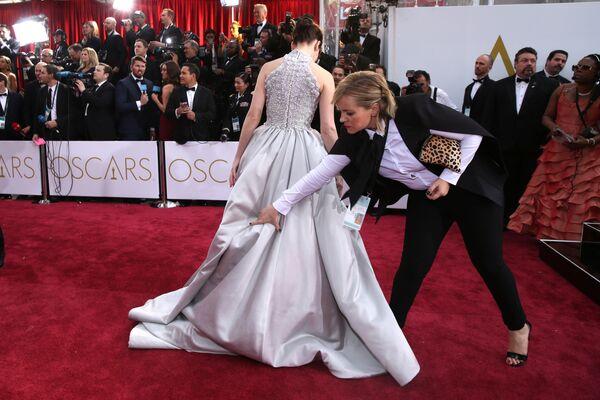 Felicity Jones arriva agli Oscar domenica 22 febbraio, 2015, Los Angeles - Sputnik Italia