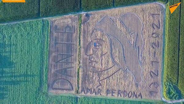 L'arte sui campi, l'omaggio dell'artista Dario Gambarin a Dante Alighieri - Sputnik Italia