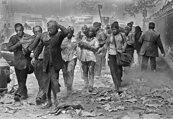 Sopravvissuti agli attacchi terroristici al World Trade Center di New York, 11 settembre 2001 - Sputnik Italia