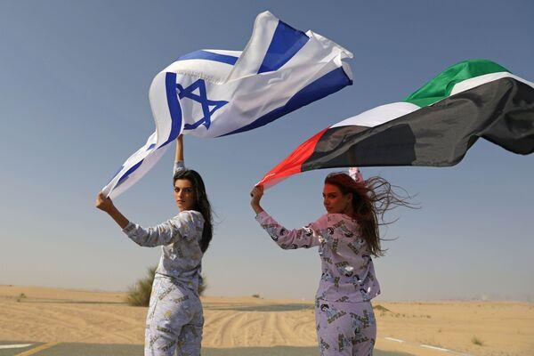 Modelle da Israele ed Emirati Arabi Uniti ad uno shooting fotografico per il marchio FIX's Princess Collection a Dubai. - Sputnik Italia