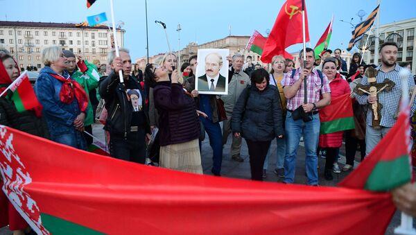 Corteo a sostegno del presidente Alexander Lukashenko a Minsk - Sputnik Italia