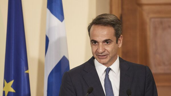 Il premier greco Kyriakos Mitsotakis - Sputnik Italia