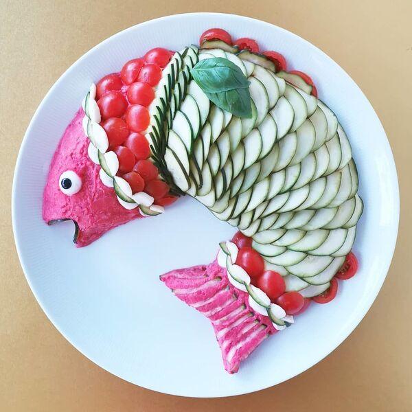 Un pesce fatto da  Jolanda Stokkermans, Belgio  - Sputnik Italia