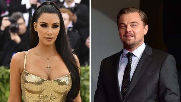 Kim Kardashian y Leonardo DiCaprio, celebridades de EEUU - Sputnik Italia