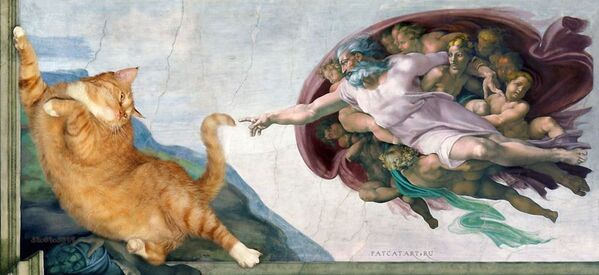 Michelangelo Buonarroti La Creazione di Adamo, 1511  - Sputnik Italia