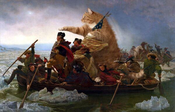 Emanuel Leutze, Washington attraversa il fiume Delaware, 1851 - Sputnik Italia
