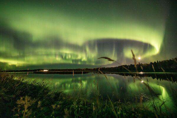 Aurora boreale nel cielo di Rovaniemi, Finlandia, il 13 settembre 2020 - Sputnik Italia