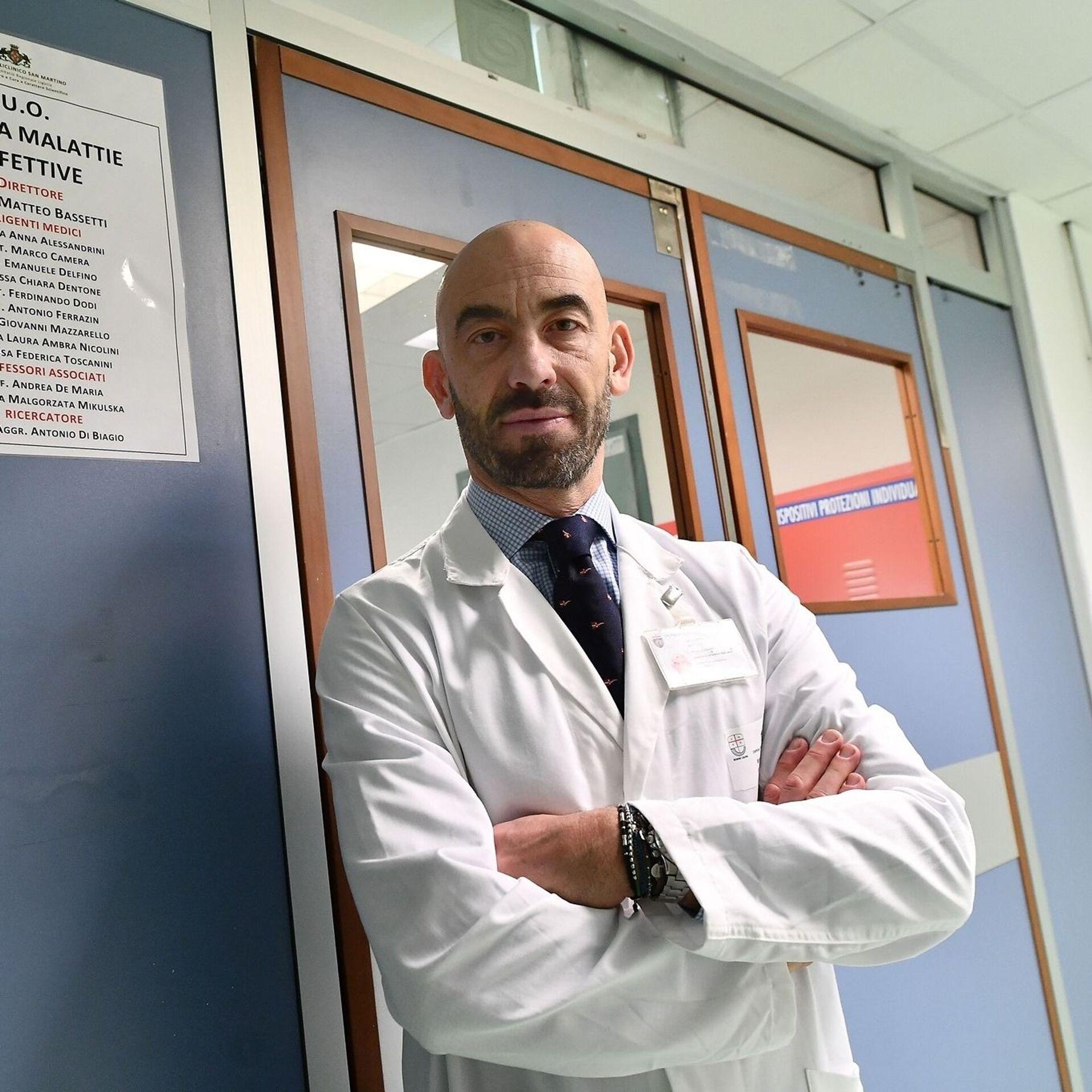 Matteo Bassetti, infettivologo, primario dell'ospedale San Martino di Genova - Sputnik Italia, 1920, 26.05.2021