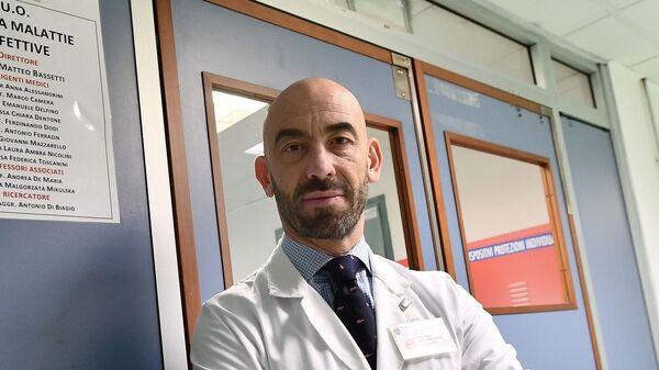 Matteo Bassetti, infettivologo, primario dell'ospedale San Martino di Genova - Sputnik Italia