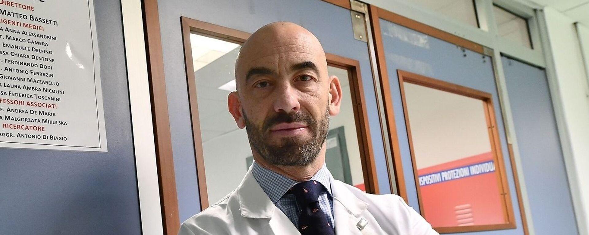 Matteo Bassetti, infettivologo, primario dell'ospedale San Martino di Genova - Sputnik Italia, 1920, 19.07.2021
