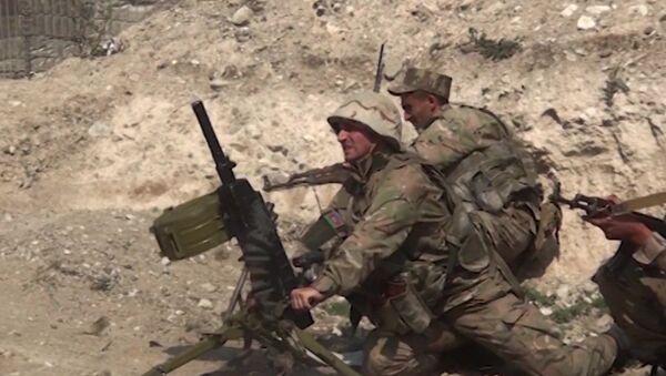 Soldati azeri Nagorno-Karabakh - Sputnik Italia