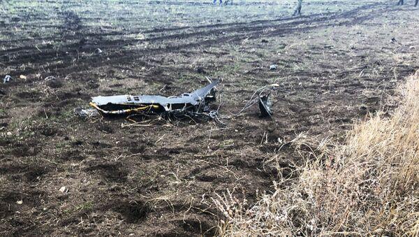Rottami di un SU 25 armeno - foto di repertorio, scattata il dopo un'incidente in un'esercitazione militare in data 4-12-2018 - Sputnik Italia