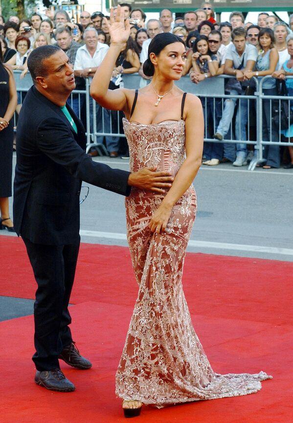 L'attrice italiana Monica Bellucci durante la Mostra internazionale d'arte cinematografica di Venezia - Sputnik Italia