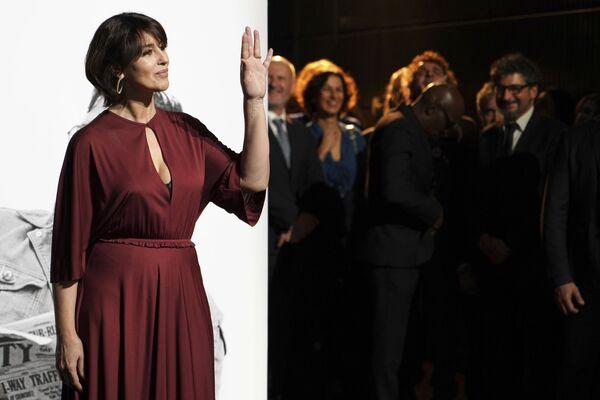L'attrice italiana Monica Bellucci diurante la cerimonia Lumiere Award in Francia - Sputnik Italia