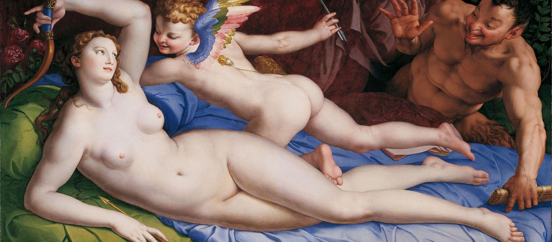 Venere, Cupido e il Satiro - Agnolo Bronzino, XVI sec. - Sputnik Italia, 1920, 07.10.2020
