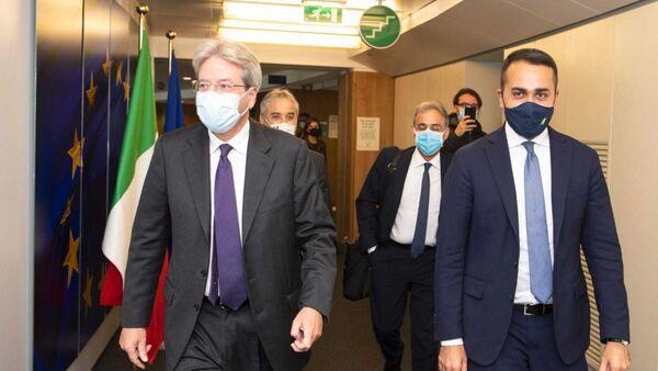 Gentiloni e Di Maio a Bruxelles - Sputnik Italia