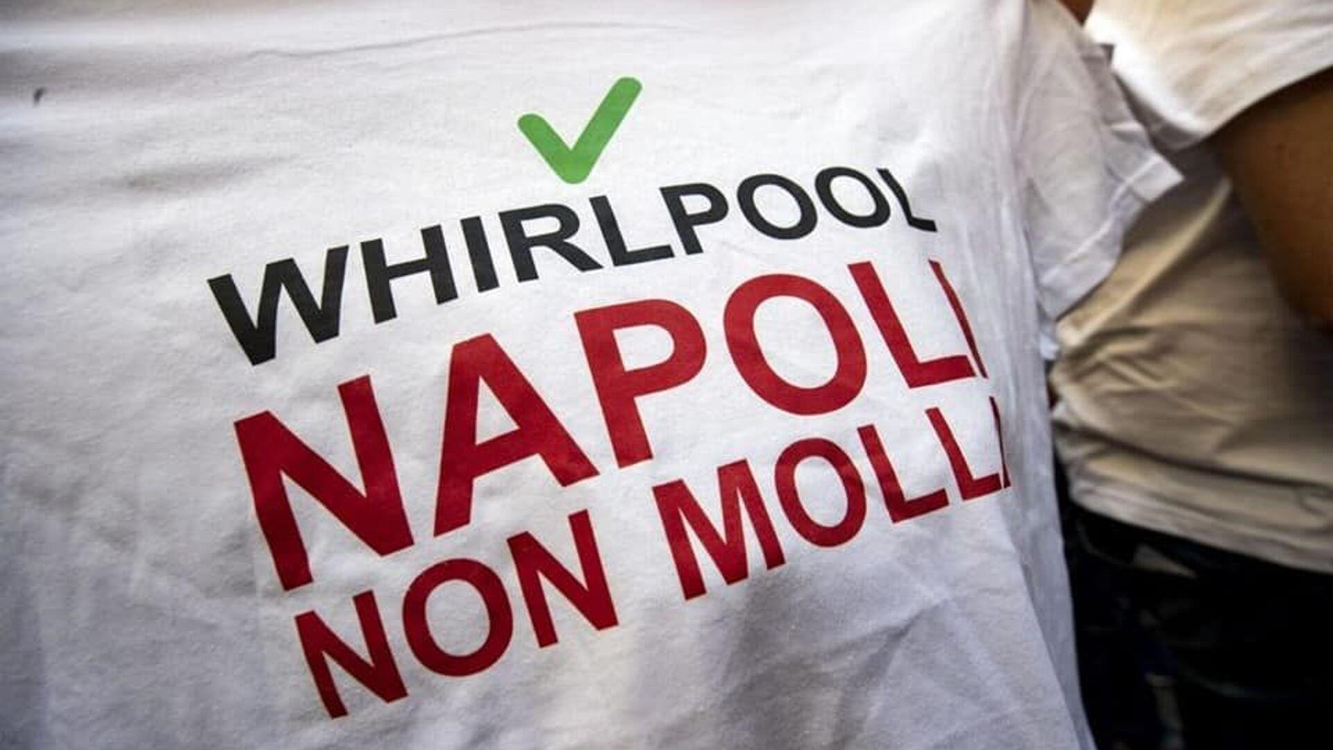 Vertenza Whirlpool, la protesta dei lavoratori - Sputnik Italia, 1920, 23.09.2021