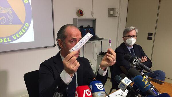 Il governatore Zaia testa il tampone rapido - Sputnik Italia