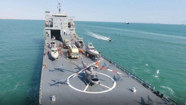 La Shahid Rudaki, una nuova nave da guerra iraniana roll-on / roll-off schierata dalle Guardie Rivoluzionarie. - Sputnik Italia