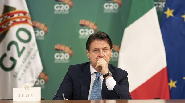 Il Presidente del Consiglio, Giuseppe Conte, partecipa alla sessione dei lavori della prima giornata. G20 - Sputnik Italia