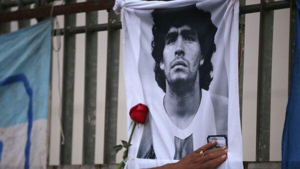 La cerimonia di commemorazione di Maradona - Sputnik Italia