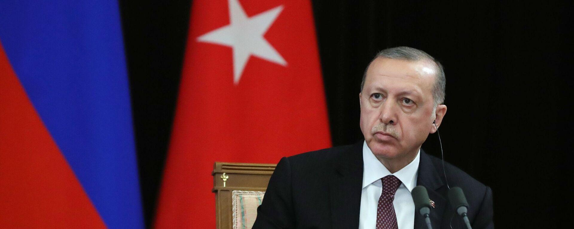 Il presidente turco Recep Tayyip Erdogan - Sputnik Italia, 1920, 29.08.2021