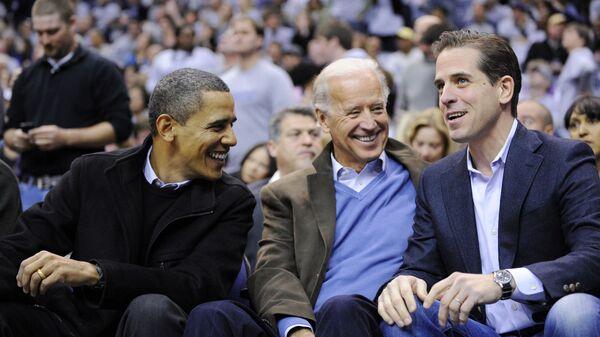 Barack Obama, Joe Biden ed Hunter Biden - Sputnik Italia