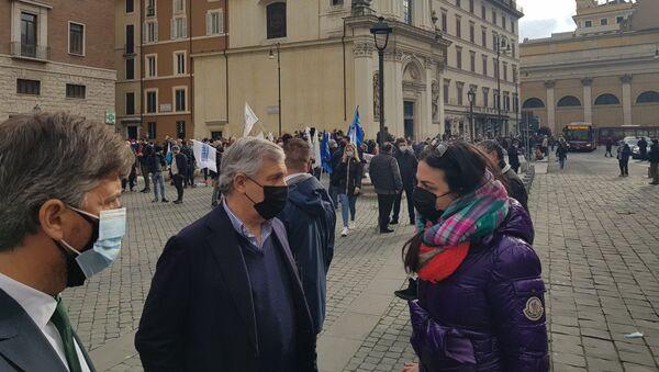 Ristoratori in crisi scendono in piazza a Roma - Sputnik Italia