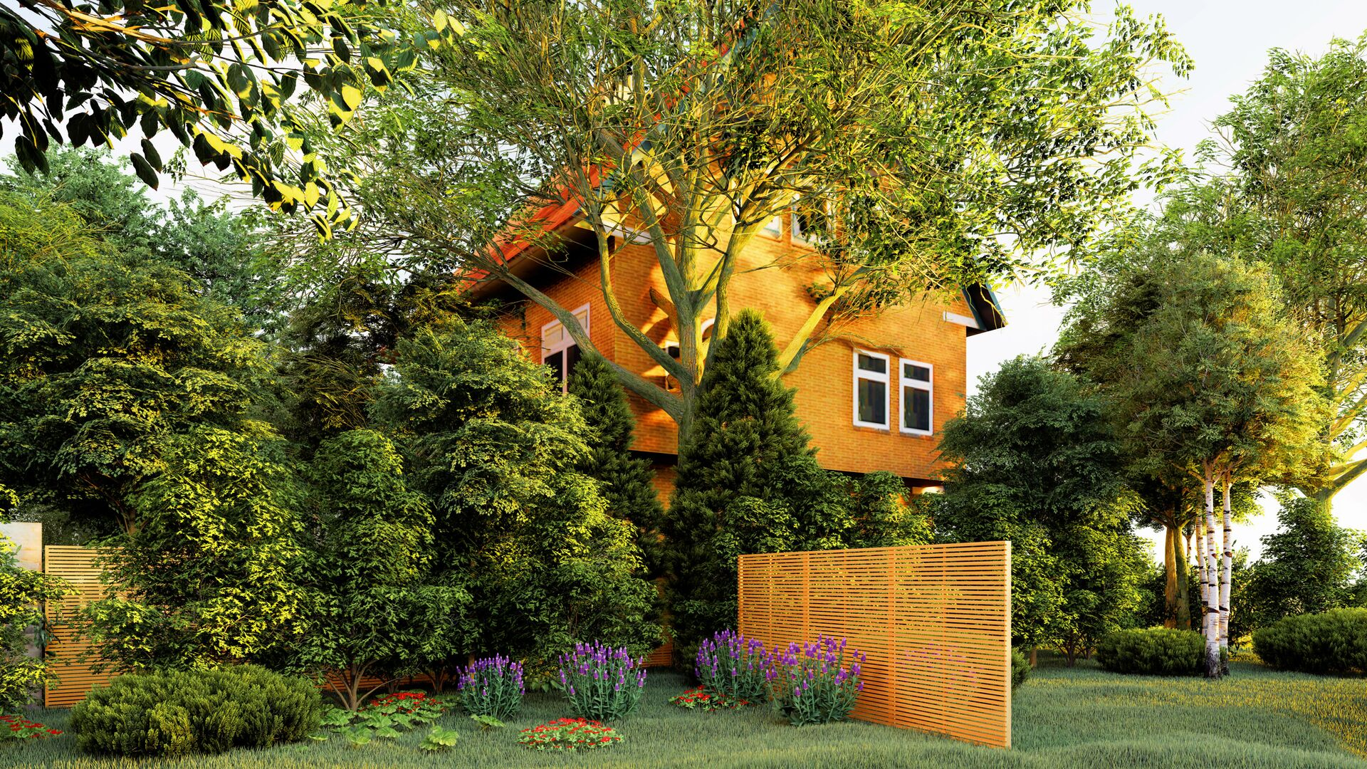 Casa privata con il giardino - Sputnik Italia, 1920, 20.09.2021