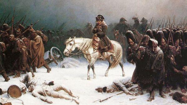 Dipinto la Ritirata di Napoleone Bonaparte dalla Russia, di Adolph Northen - Sputnik Italia